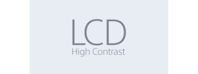 High Contrast LCD-pictogram