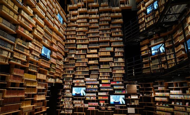 Afbeelding gemaakt in een bibliotheek met deze lens bij een hoge resolutie vanuit elke hoek