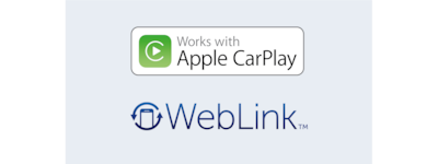 Logo's van Apple CarPlay en WebLink