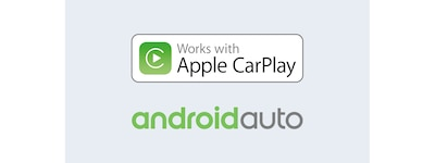 Logo's van Apple CarPlay en Android Auto