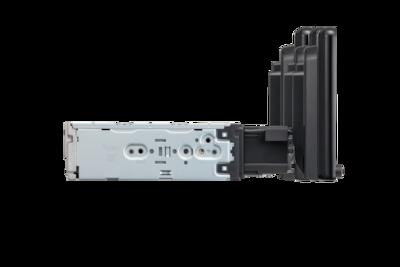 Zijaanzicht van de dieper geplaatste houder van de XAV-AX8050D