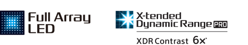 Logo's van Full Array LED en X-tended Dynamic Range