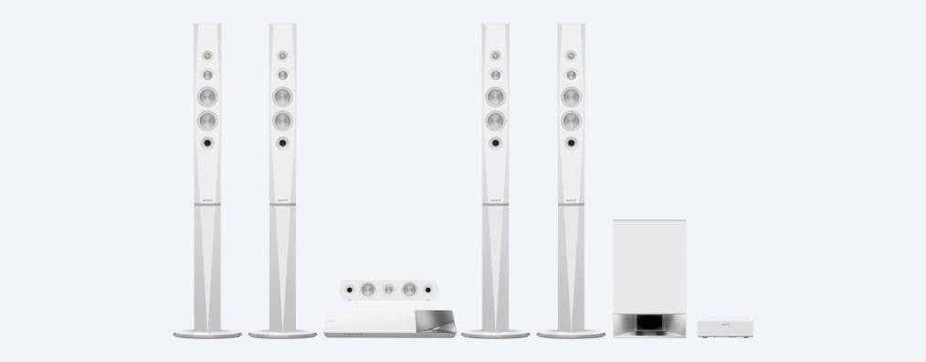 Home Theatre-systeem met 5.1 Surround Sound-speakers